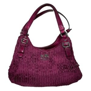 COACH Madison Maggie Gathered Shoulder Bag Berry